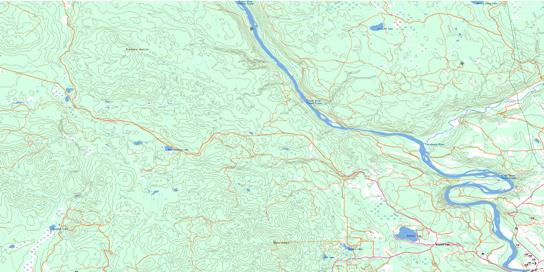 Cottonwood Canyon Topo Map 093G02 at 1:50,000 scale - National Topographic System of Canada (NTS) - Toporama map