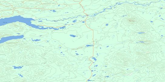 Wittsichica Creek Topo Map 093N01 at 1:50,000 scale - National Topographic System of Canada (NTS) - Toporama map