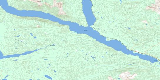 Sakeniche River Topo Map 093N04 at 1:50,000 scale - National Topographic System of Canada (NTS) - Toporama map