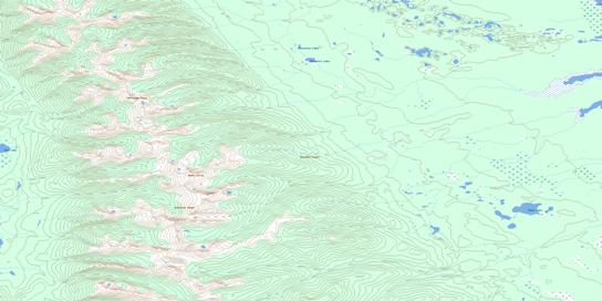 Moscovite Lakes Topo Map 093N16 at 1:50,000 scale - National Topographic System of Canada (NTS) - Toporama map