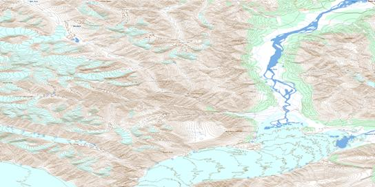 Slims River Topo Map 115B15 at 1:50,000 scale - National Topographic System of Canada (NTS) - Toporama map