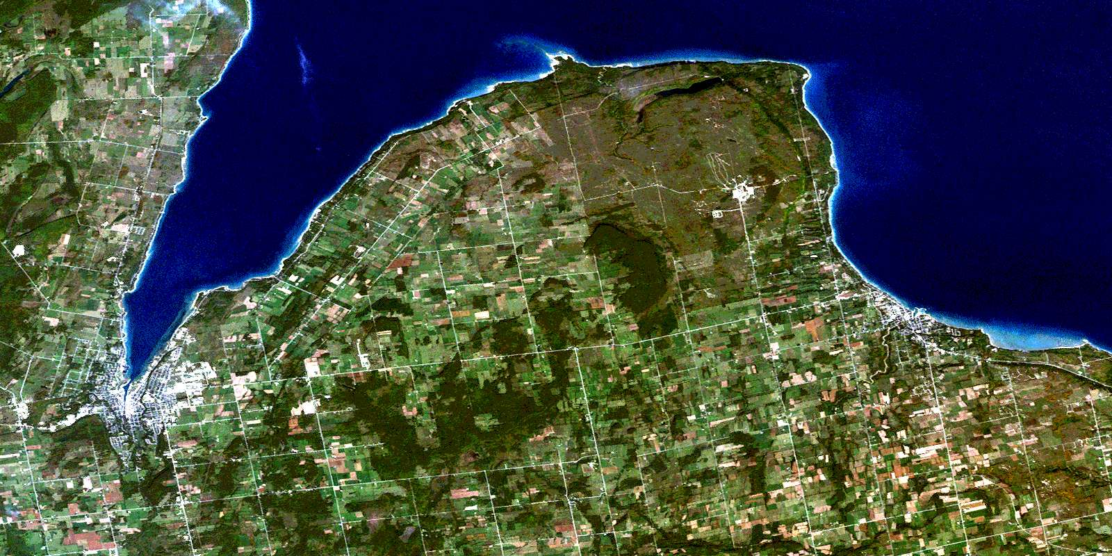 Owen Sound ON Free Satellite Image Map 041A10 at 150000