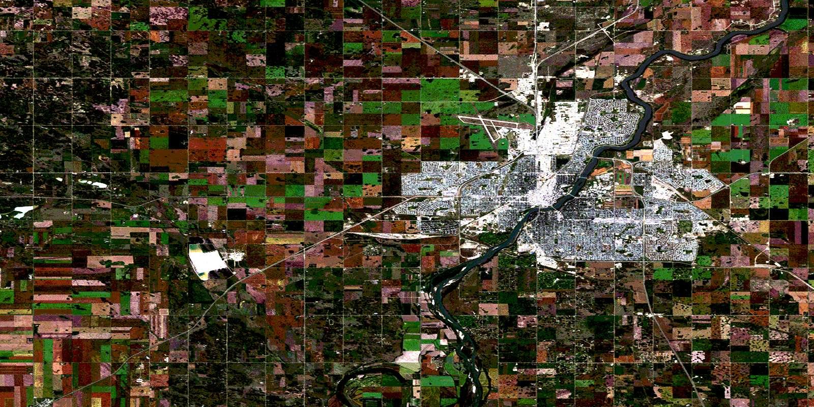 073b02 saskatoon high resolution satellite image map