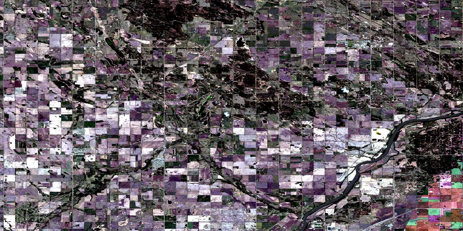 Map Of Redwater Alberta Redwater AB Free Satellite Image Map   083H14 at 1:50,000