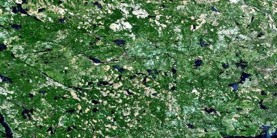 Liscomb Satellite Map 011E01 at 1:50,000 scale - National Topographic System of Canada (NTS) - Orthophoto