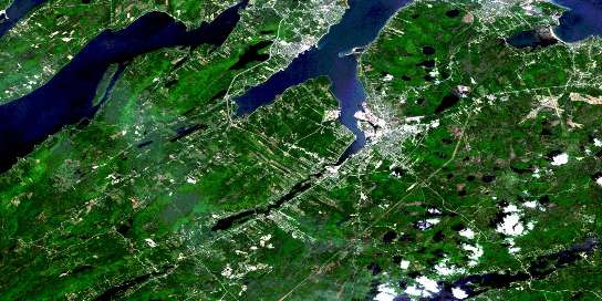 Sydney Satellite Map 011K01 at 1:50,000 scale - National Topographic System of Canada (NTS) - Orthophoto