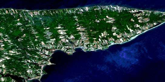 Souris Satellite Map 011L08 at 1:50,000 scale - National Topographic System of Canada (NTS) - Orthophoto