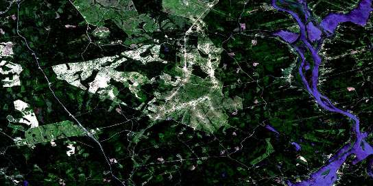 Hampstead Satellite Map 021G09 at 1:50,000 scale - National Topographic System of Canada (NTS) - Orthophoto