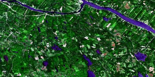 Canterbury Satellite Map 021G14 at 1:50,000 scale - National Topographic System of Canada (NTS) - Orthophoto