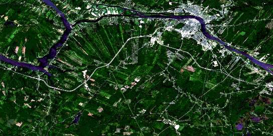 Fredericton Satellite Map 021G15 at 1:50,000 scale - National Topographic System of Canada (NTS) - Orthophoto