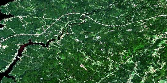 Codys Satellite Map 021H13 at 1:50,000 scale - National Topographic System of Canada (NTS) - Orthophoto