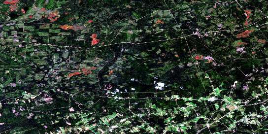 Salisbury Satellite Map 021I03 at 1:50,000 scale - National Topographic System of Canada (NTS) - Orthophoto