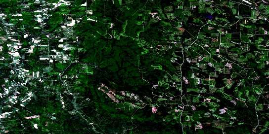 Coldstream Satellite Map 021J06 at 1:50,000 scale - National Topographic System of Canada (NTS) - Orthophoto