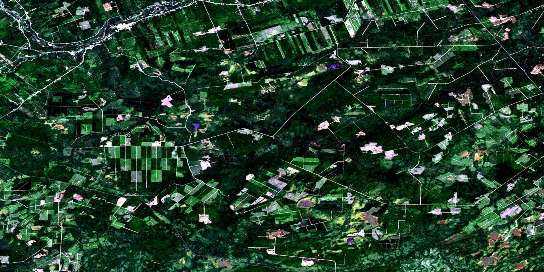 Boiestown Satellite Map 021J08 at 1:50,000 scale - National Topographic System of Canada (NTS) - Orthophoto