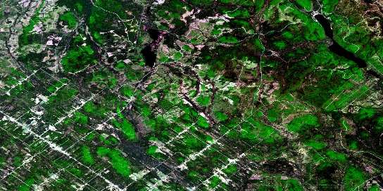 Ste-Perpetue-De-Islet Satellite Map 021N04 at 1:50,000 scale - National Topographic System of Canada (NTS) - Orthophoto