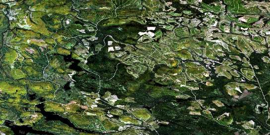 Serpentine Lake Satellite Map 021O02 at 1:50,000 scale - National Topographic System of Canada (NTS) - Orthophoto