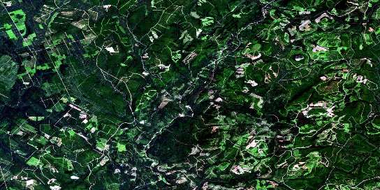 Riley Brook Satellite Map 021O03 at 1:50,000 scale - National Topographic System of Canada (NTS) - Orthophoto
