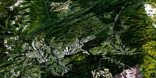 Lac Madeleine Satellite Map 022A13 at 1:50,000 scale - National Topographic System of Canada (NTS) - Orthophoto