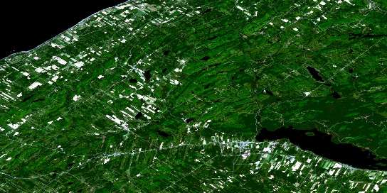 Sayabec Satellite Map 022B12 at 1:50,000 scale - National Topographic System of Canada (NTS) - Orthophoto