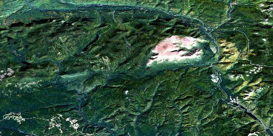 Mont Albert Satellite Map 022B16 at 1:50,000 scale - National Topographic System of Canada (NTS) - Orthophoto