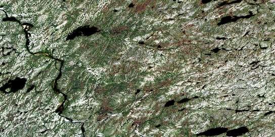 Lac Doran Satellite Map 024D07 at 1:50,000 scale - National Topographic System of Canada (NTS) - Orthophoto