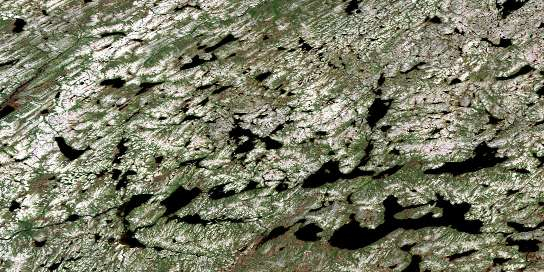Lac Vallerenne Satellite Map 024D10 at 1:50,000 scale - National Topographic System of Canada (NTS) - Orthophoto