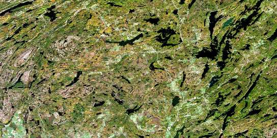Tichborne Satellite Map 031C10 at 1:50,000 scale - National Topographic System of Canada (NTS) - Orthophoto