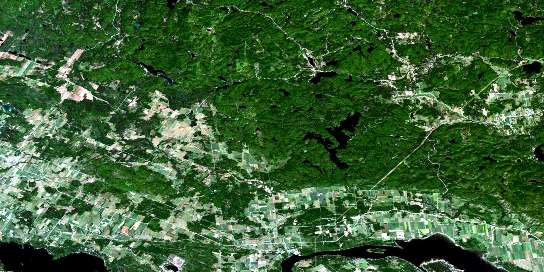 Quyon Satellite Map 031F09 at 1:50,000 scale - National Topographic System of Canada (NTS) - Orthophoto
