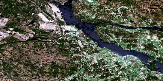 Pembroke Satellite Map 031F14 at 1:50,000 scale - National Topographic System of Canada (NTS) - Orthophoto