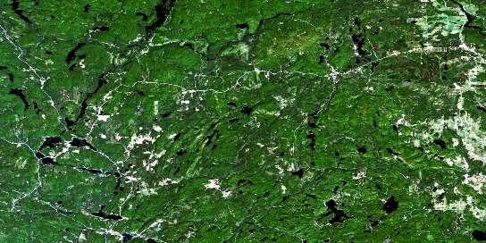 Kazabazua Satellite Map 031F16 at 1:50,000 scale - National Topographic System of Canada (NTS) - Orthophoto