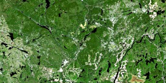 Lac Bellemare Satellite Map 032H08 at 1:50,000 scale - National Topographic System of Canada (NTS) - Orthophoto