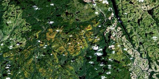 Grand Lac Jourdain Satellite Map 032H16 at 1:50,000 scale - National Topographic System of Canada (NTS) - Orthophoto