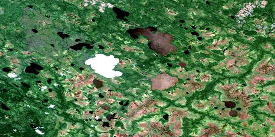 Lac Paul-Sauve Satellite Map 032L01 at 1:50,000 scale - National Topographic System of Canada (NTS) - Orthophoto