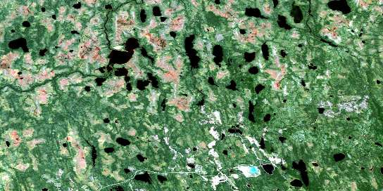 Hopper Creek Satellite Map 032L04 at 1:50,000 scale - National Topographic System of Canada (NTS) - Orthophoto