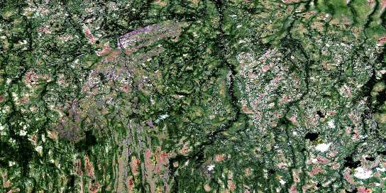 Hoelke Creek Satellite Map 032L12 at 1:50,000 scale - National Topographic System of Canada (NTS) - Orthophoto