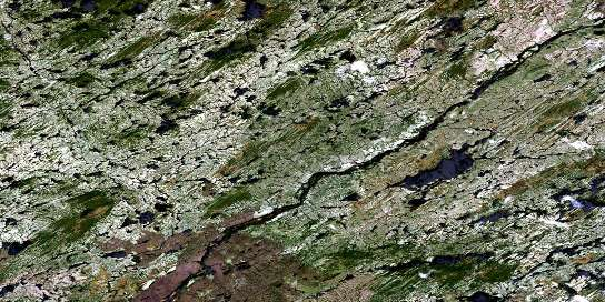 Lac Cadieux Satellite Map 033A07 at 1:50,000 scale - National Topographic System of Canada (NTS) - Orthophoto