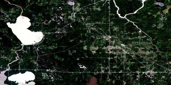 Porquis Junction Satellite Map 042A10 at 1:50,000 scale - National Topographic System of Canada (NTS) - Orthophoto