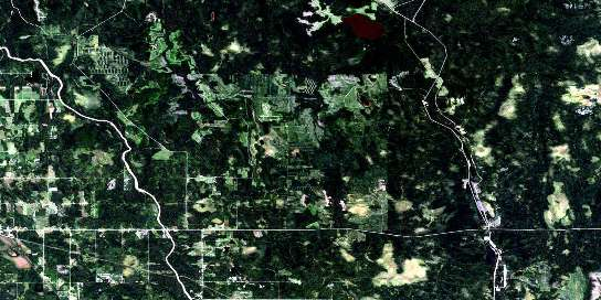 Abitibi Satellite Map 042H02 at 1:50,000 scale - National Topographic System of Canada (NTS) - Orthophoto