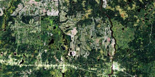 Smooth Rock Falls Satellite Map 042H05 at 1:50,000 scale - National Topographic System of Canada (NTS) - Orthophoto