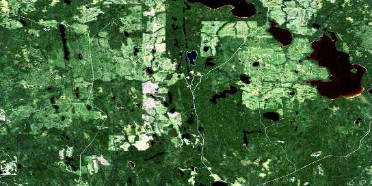 Little Abitibi Lake Satellite Map 042H07 at 1:50,000 scale - National Topographic System of Canada (NTS) - Orthophoto