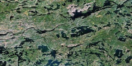Poohbah Lake Satellite Map 052B05 at 1:50,000 scale - National Topographic System of Canada (NTS) - Orthophoto