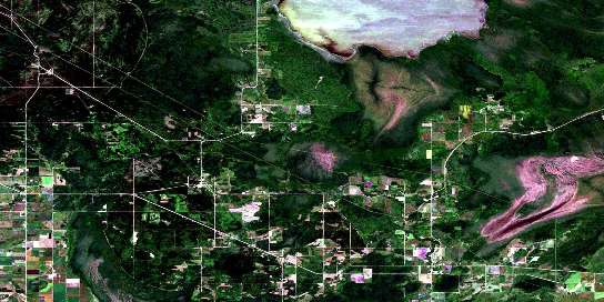 Sprague Satellite Map 052E04 at 1:50,000 scale - National Topographic System of Canada (NTS) - Orthophoto