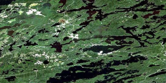 Hudson Satellite Map 052K01 at 1:50,000 scale - National Topographic System of Canada (NTS) - Orthophoto