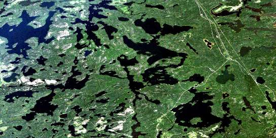 Wabaskang Lake Satellite Map 052K06 at 1:50,000 scale - National Topographic System of Canada (NTS) - Orthophoto