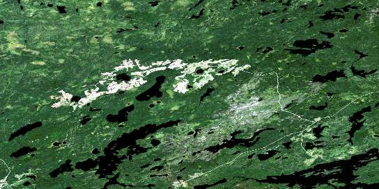 Wapesi Lake Satellite Map 052K09 at 1:50,000 scale - National Topographic System of Canada (NTS) - Orthophoto