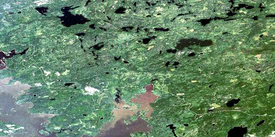 Aerofoil Lake Satellite Map 052K10 at 1:50,000 scale - National Topographic System of Canada (NTS) - Orthophoto