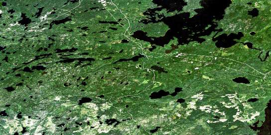 Madsen Satellite Map 052K13 at 1:50,000 scale - National Topographic System of Canada (NTS) - Orthophoto