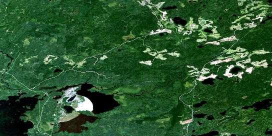Pakwash Lake Satellite Map 052K14 at 1:50,000 scale - National Topographic System of Canada (NTS) - Orthophoto