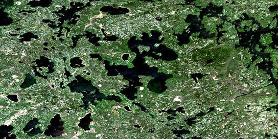 Crowduck Lake Satellite Map 052L03 at 1:50,000 scale - National Topographic System of Canada (NTS) - Orthophoto