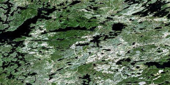 Sydney Lake Satellite Map 052L09 at 1:50,000 scale - National Topographic System of Canada (NTS) - Orthophoto